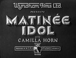 Matinee Idol [1933] [DVD]